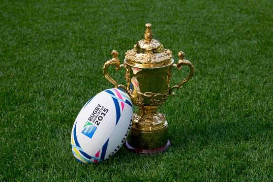 El trofeo del Mundial de Rugby llega a Uruguay